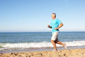 mature man running